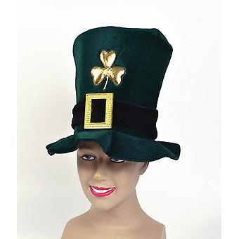 Irish Hat. Velvet, Green.