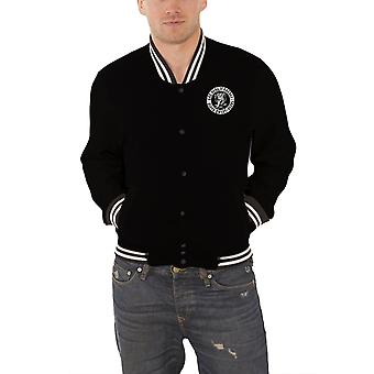 Gaz singe Garage Baseball Jacket Logo nouveau officiel Mens Black