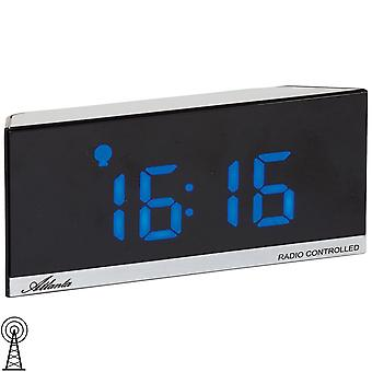 Atlanta 1883/7 alarm clock radio alarm clock power clock digital black with temperature