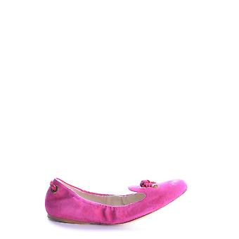Car Shoe Ezbc029015 Women's Fuchsia Leather Flats