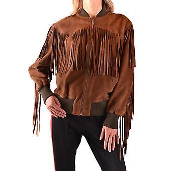 Gucci Ezbc012006 Veste d'outerwear Brown Suede
