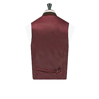 Dobell Herre brun rude Check Tweed vest Fit Regular Notch revers