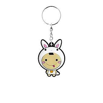 Grindstore Kawaii Bunny Rubber Keychain