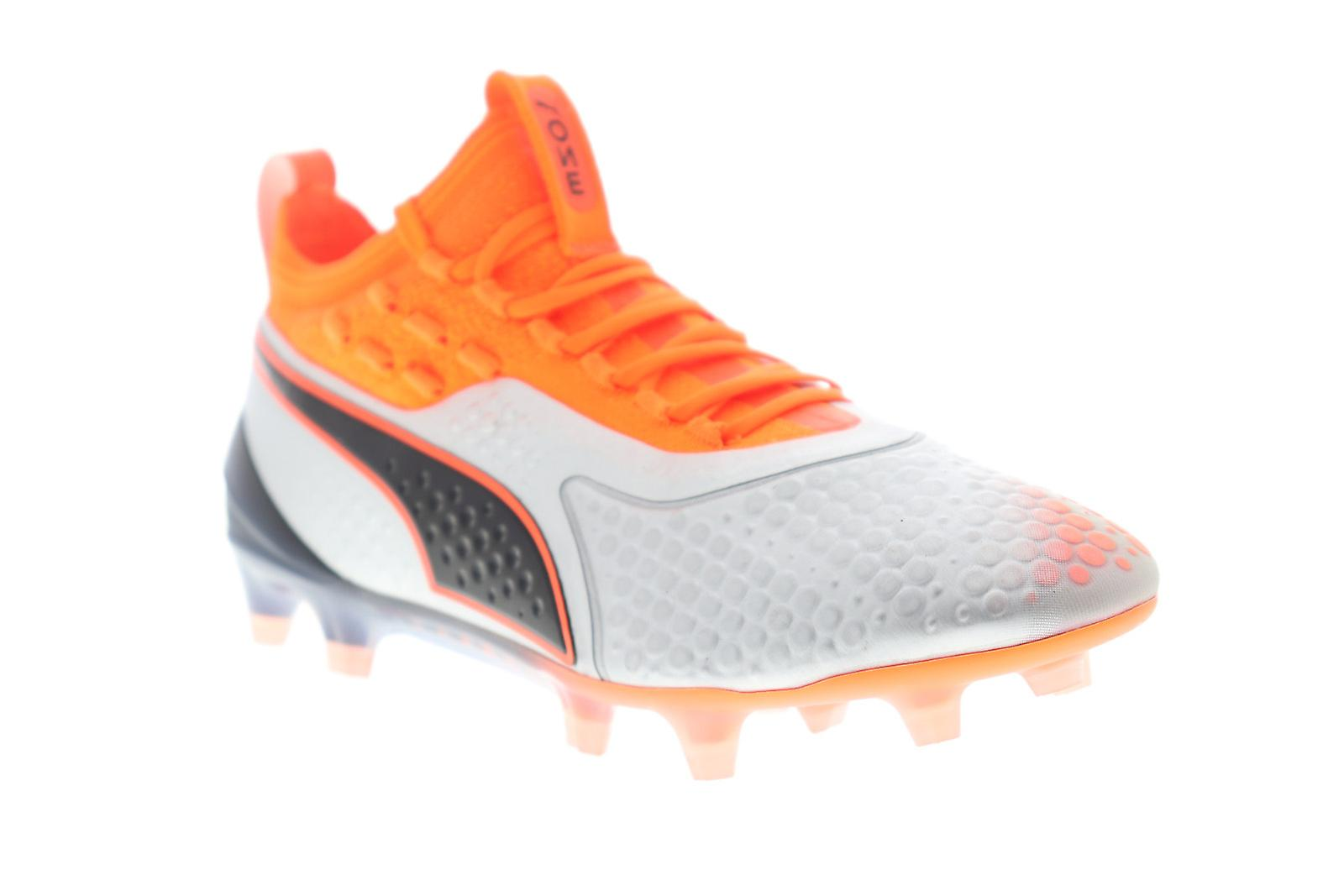 ca5765a70 Puma One 1 Fg Ag Mens Sliver Orange Synthetic Athletic Soccer ...