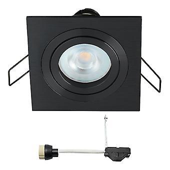 Coblux LED Einbaustrahler | Schwarz | Quadratisch | Warmweiß | 5 Watt | dimmbar | Kippen