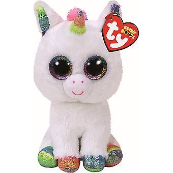 TY Beanie Boo Large Pixy Glitter Eye Unicorn 42 cm