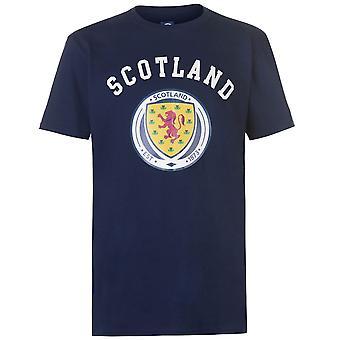 Source Lab Mens Scotland Crest T Shirt Short Sleeve Crew