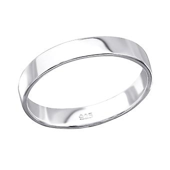 Band - 925 Sterling Silver Plain Rings - W26708x