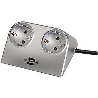 Brennenstuhl Desktop-Power 2-fach silber 1,8m H05VV-F 3G1,5 (DIY , Electricity)