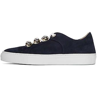 Carven Womens 9133sc182 Leather Low Top Lace Up Fashion Sneakers