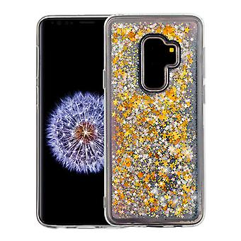 Stars & Pink Quicksand Glitter Hybrid Case for Galaxy S9 Plus