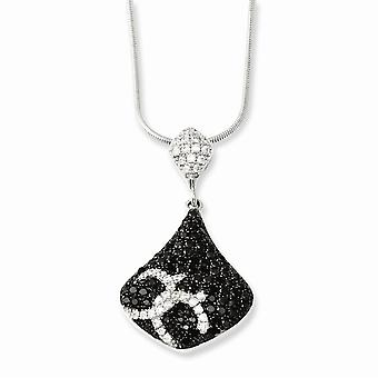 Cierre de garra de langosta de plata esterlina 925 y cz zirconia cúbico zirconia diamante simulado brillante brasas collar 18 pulgadas joya