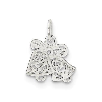 925 Sterling Silver Polished Filigree Scroll Bells Pendant Necklace Jewelry Gifts for Women
