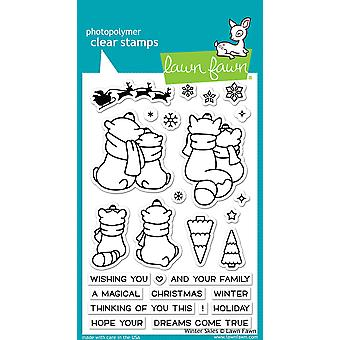 Lawn Fawn Winter Skies Clear Stamps
