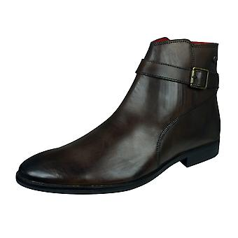 Base London Fern Mens Leather Chelsea / Ankle Boots - Burnished Cocoa