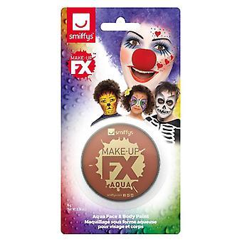 Smiffys Make-Up FX, baseret på skærmkort, lys brun, Aqua ansigt og krop maling, 16ml, vand Fancy kjole tilbehør
