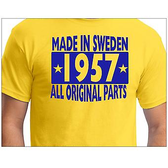 Yellow T-Shirt Made in Sweden 1957 All original Parts