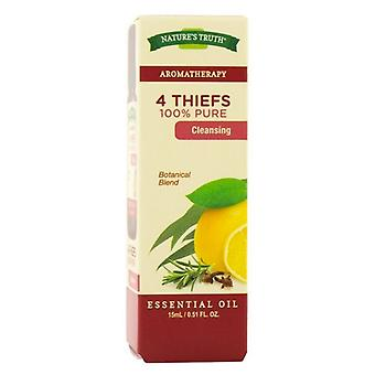 Nature's truth 100% pure cleansing essential oil, 4 thiefs, 0.51 oz