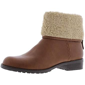 Style et Co. Femme Bettey Fold Over Faux Fur Booties Brown 5 Medium (B,M)