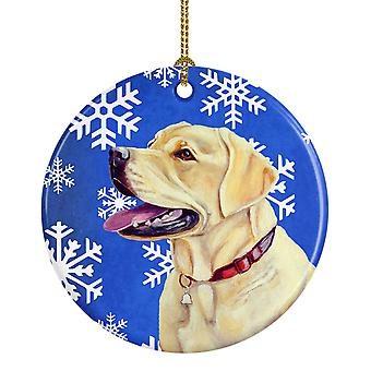 Carolines tesoros LH9293-CO1 Labrador copo de nieve de invierno vacaciones cerámica Orname