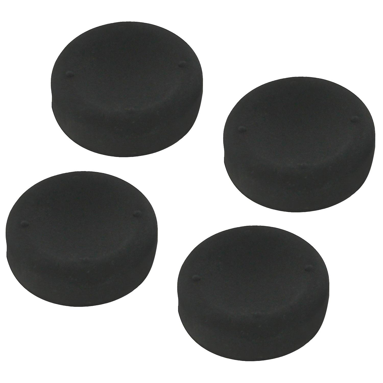 Concave soft silicone thumb grips for sony ps4 controller analog sticks - 4 pack black
