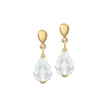 Ewige Sammlung Raffinesse klar Kristall Gold Ton Drop Clip auf Ohrringe