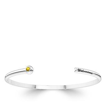 Die University of Michigan Saphir Manschette Armband In Sterling Silber Design von BIXLER