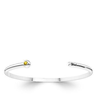 The University of Michigan Sapphire Cuff Bracelet In Sterling Silver Design by BIXLER