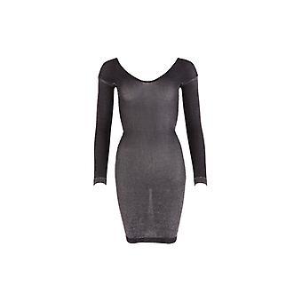 Vestido negro brillo