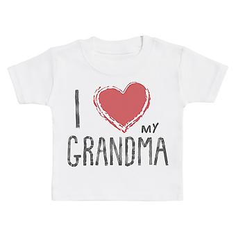 أنا أحب جدتي القلب الأحمر الطفل تي شيرت
