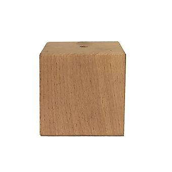 Small squares wooden furniture leg 6 cm