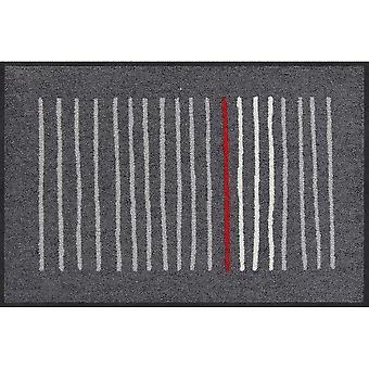 Salon lion Mikado graphite mat washable 50 x 75 cm