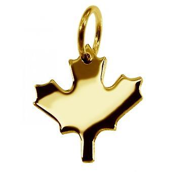 Hänge Kanada lönnlöv i 585 guld