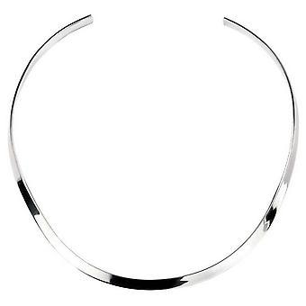 Beginnings Curved Flat Torque Neck Collar - Silver