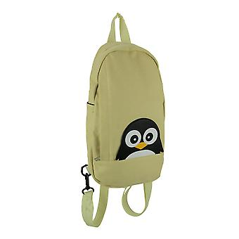 Sleepyville Critters Beige Canvas Peeking Penguin Backpack or Sling Bag Small