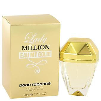 Lady Million Eau My Gold Eau De Toilette Spray By Paco Rabanne   517938 50 ml