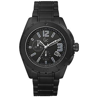 GC Watch (coleção Guess) X76011G2S-Men ' s Black Sport C Ramique Watch