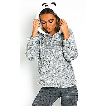 IKRUSH Womens Iggy Fluffy Animal Hooded Jumper
