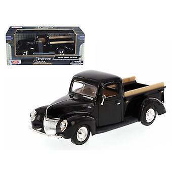 1940 Ford Pickup Schwarz 1/24 Diecast Modell von Motormax