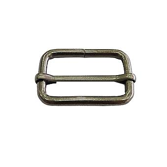 32mm Metal Gunmetal Triglide Sliding Bar Buckle