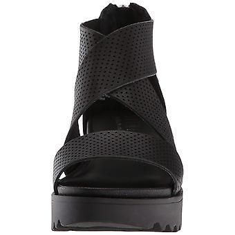 Steven par Steve Madden Womens NC-Klein Leather Open Toe Casual Platform Sandals