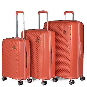 Set of 3 Trolley Travel Suitcases From The Itaca Signature Polypropylene Pp