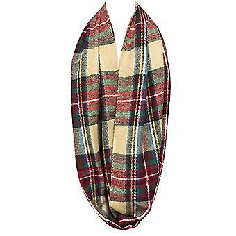 Bowbear لينة اللمس الشتاء الدافئ ة Tartan وشاح اللانهاية، الأحمر والأخضر، حجم واحد الحجم
