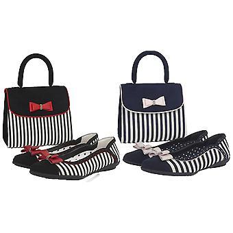Ruby Shoo Women's Lizzie Ballerina Pumps & Matching Banjul Bag