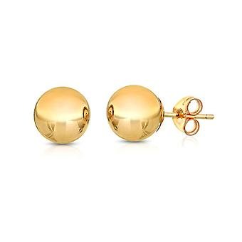 Ah! Bijoux 8mm 18K Or Over Sterling Silver Round Studs, Stamped 926