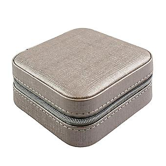 Travel box with Mirror, Silver