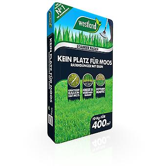 WESTLAND® No room for moss - lawn fertilizer with iron, 10 kg for 400 m2