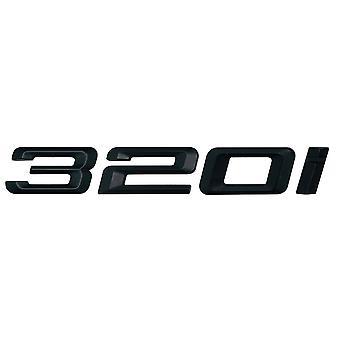 Matt Black BMW 320i Car Model Rear Boot Number Letter Sticker Decal Badge Emblem For 3 Series E36 E46 E90 E91 E92 E93 F30 F31 F34 G20