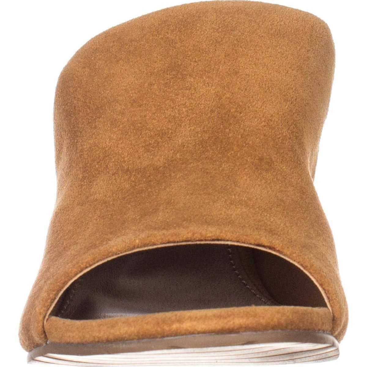 Kenneth Cole Reaction Womens Mass-ter-mind 7 Leather Peep Toe Casual Slide Sa...