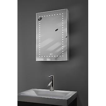 Armário de banheiro de áudio Led Elora com sensor, saqueador k383aud